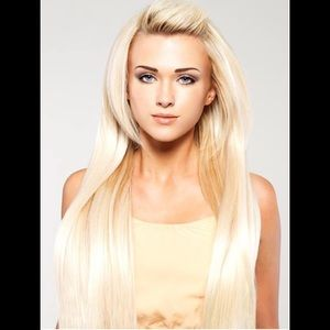 Bleach Blonde Halo Extensions
